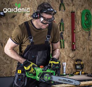 Elektryczna pilarka łańcuchowa 2400 W Gardenic Biedronka ulotka