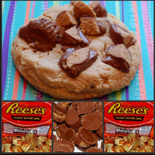 Over The Top Reese S Peanut Butter Cup Cookies Hugs And Cookies Xoxo