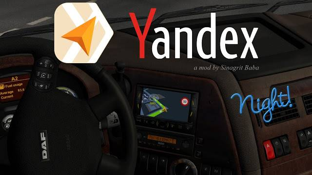 sinagrit baba ets 2 mods, ets 2 yandex navigator night version