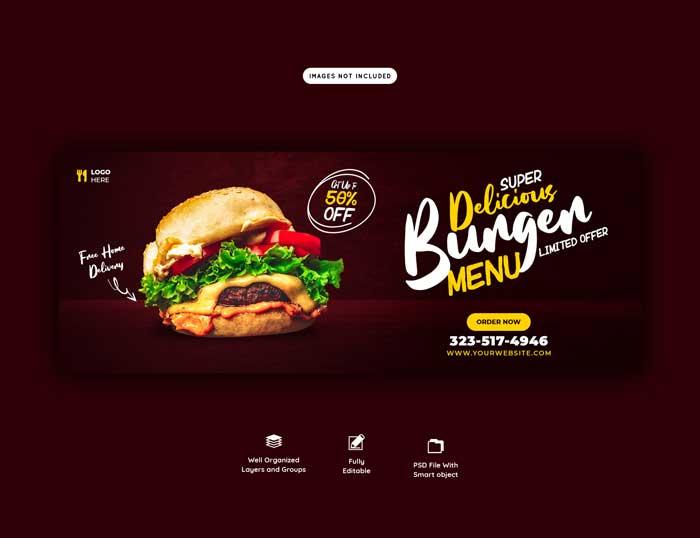 Food Sales Menu Web PSD Template V-3