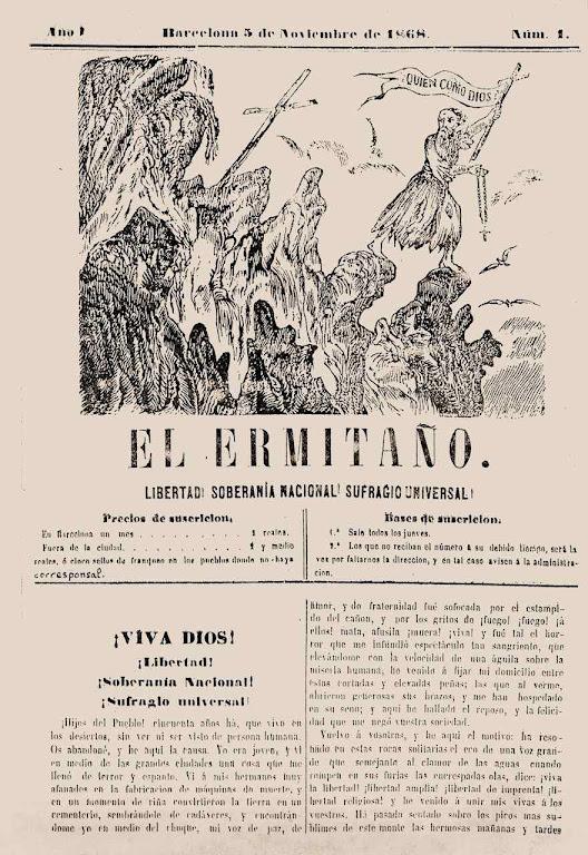 El Ermitaño nº 1, 5 de noviembre de 1868