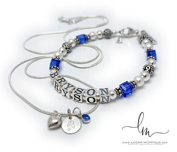 Bryson Birthstone Bracelet & Necklace