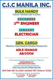 Seaman jobs hiring updated looking ship crew join on general cargo ship, bulk carrier handy ship 2019