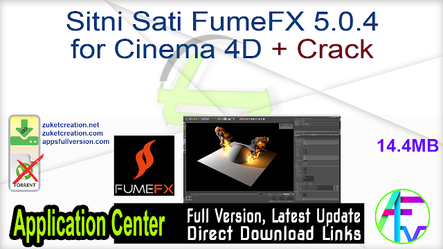 Sitni Sati FumeFX 5.0.4 for Cinema 4D + Crack