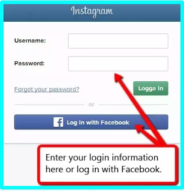 instagram sign in with facebook