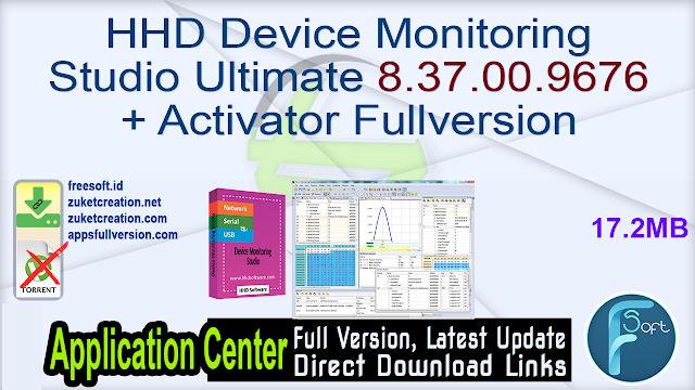 HHD Device Monitoring Studio Ultimate 8.37.00.9676 + Activator Fullversion