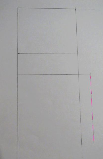 Líneas básicas patrón pantalón donde se alarga el tiro hacia abajo