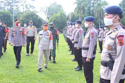 Apel Terpadu Gelar Pasukan Operasi Pendisplinan Protokol Kesehatan di Provinsi Jambi