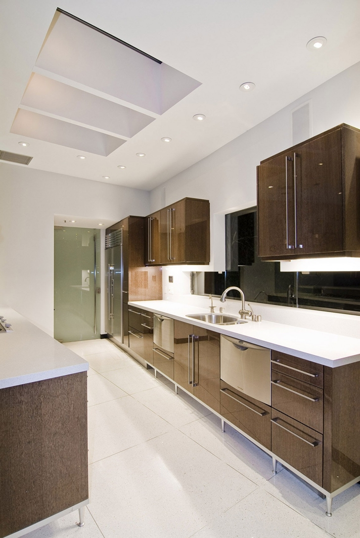 Kitchen furniture in Hollywood Mansion by Whipple Russell Architects