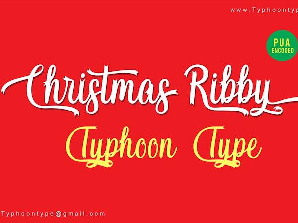 Christmas Ribby Calligraphy Font