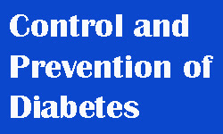 control and prevent diabetes