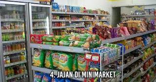 Jajan di Minimarket tanpa sadar membuat uangmu cepat habis