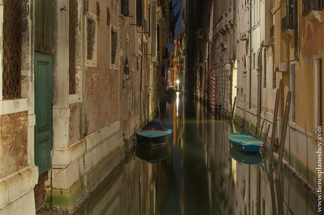 Venecia noche viaje Italia