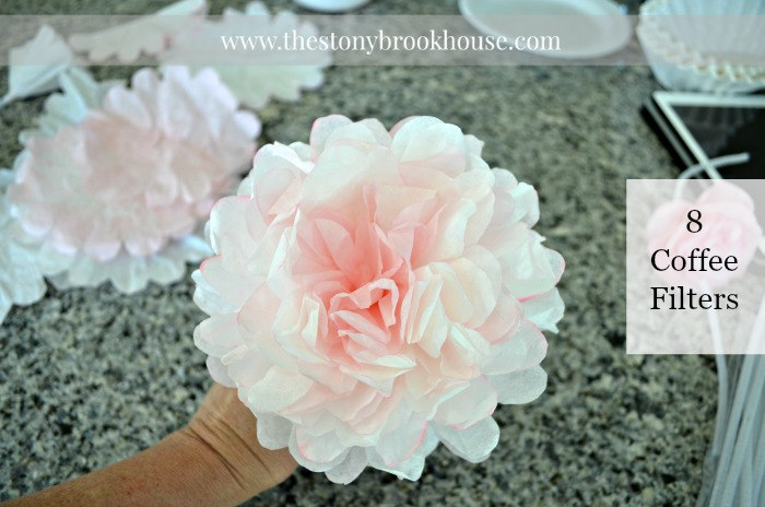Peony with 8 coffee filters