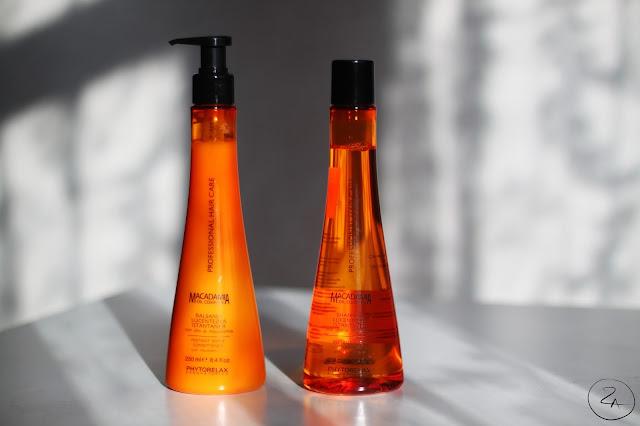 Phytorelax Laboratories Macadamia Oil Complex līnijas Instant Shine šampūns un kondicionieris