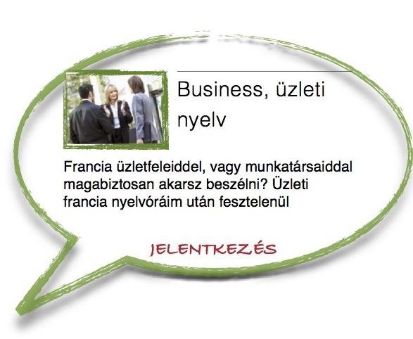 francia business, üzleti nyelv