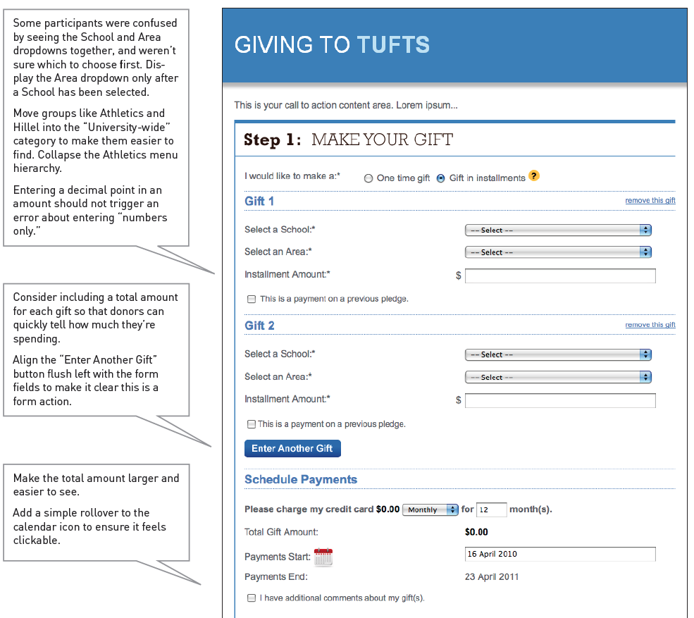 Revised giving form