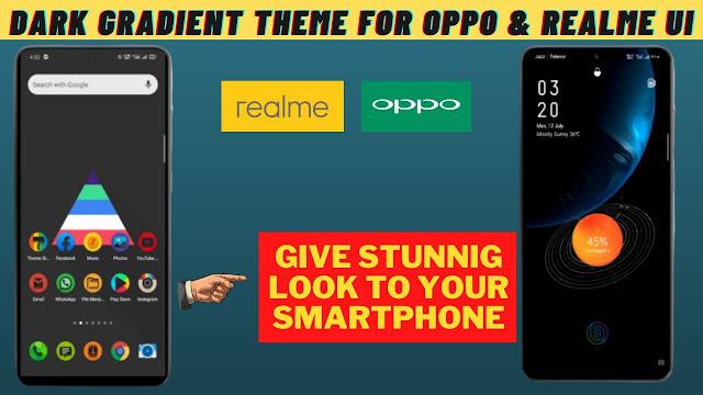 Chủ đề Dark Gradient cho Oppo và Realme || chủ đề realme || chủ đề oppo