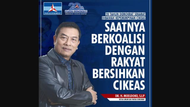 Demokrat KLB Bergairah Lagi, Beredar Seruan Moeldoko Ajak Rakyat Bersihkan Cikeas!