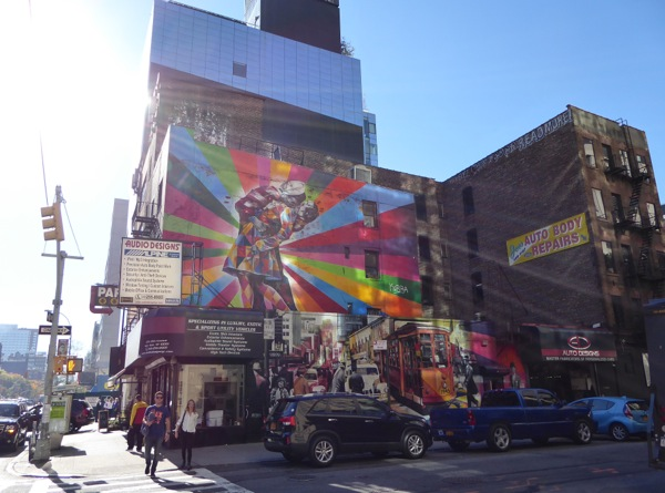 Vj day tribute mural eduardo kobra nyc for Abercrombie mural