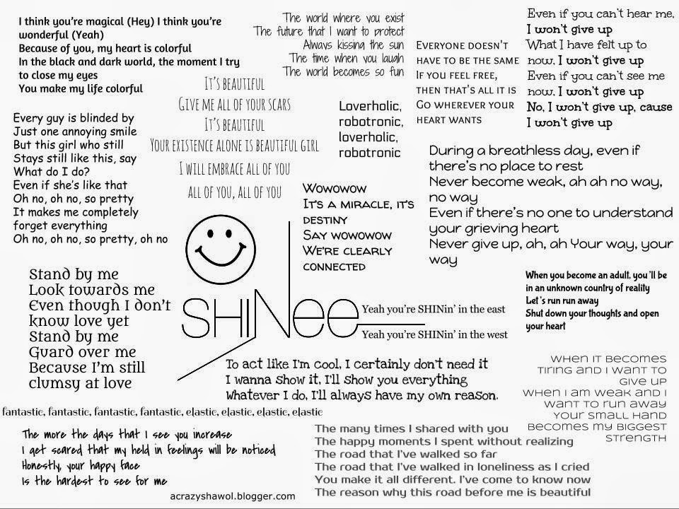 A Crazy Shawol: SHINee Lyric Poster