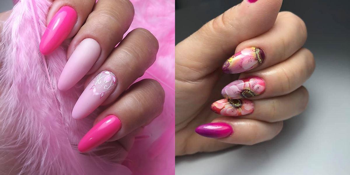 różowe paznokcie inspiracje