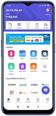 Aplikasi Android Jelita Pulsa Payment