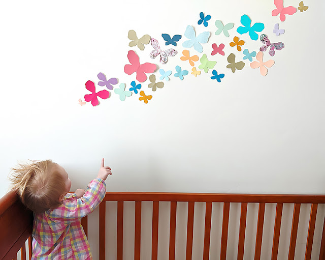 Nursery Decor: Wall Butterflies