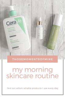 pinterest pin for morning skincare routine