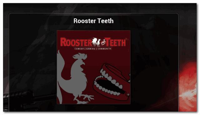 ROOSTER TEETH For IPTV XBMC | KODI