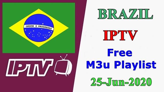 Brazil IPTV Free VLC Player m3u Playlists 25-Jun-2020