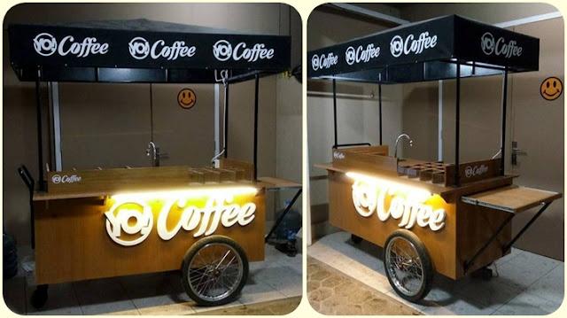 Gerobak kopi unik