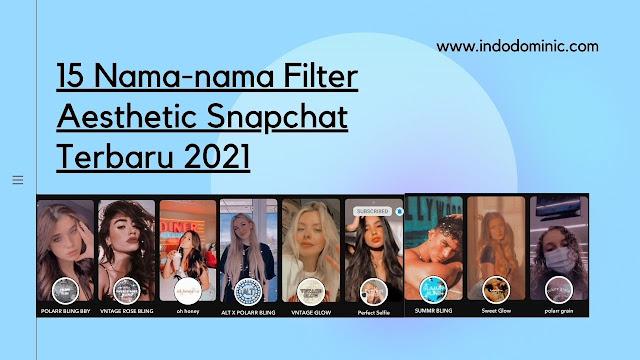 15+ Nama Filter Snapchat Yang Aesthetic Terbaru 2021