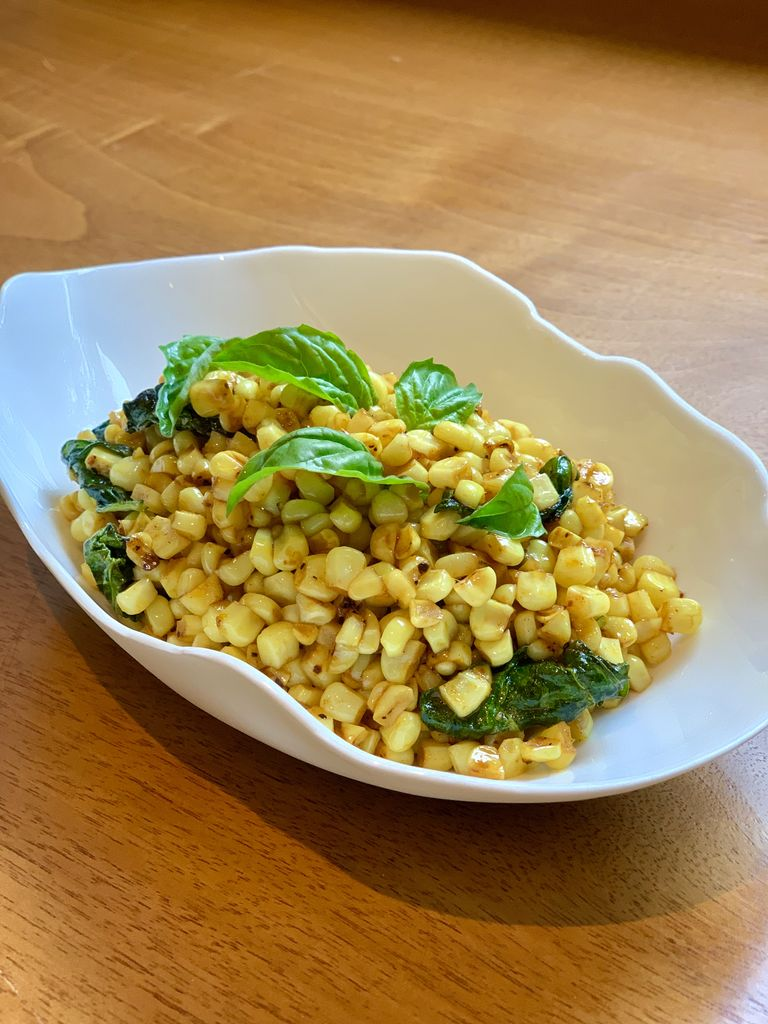 California Corn & Basil Recipe