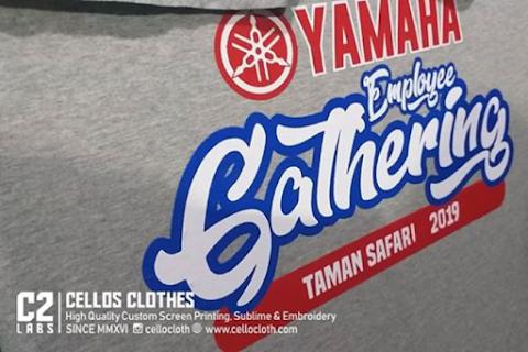 Proses Sablon Kaos Yamaha Employee Gathering Taman Safari