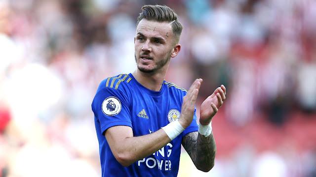 Leicester city midfielder James Maddison