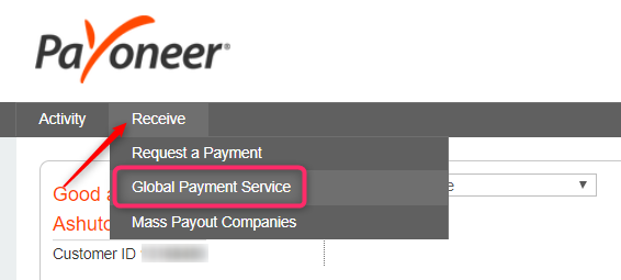 US Bank Account Details using Payoneer