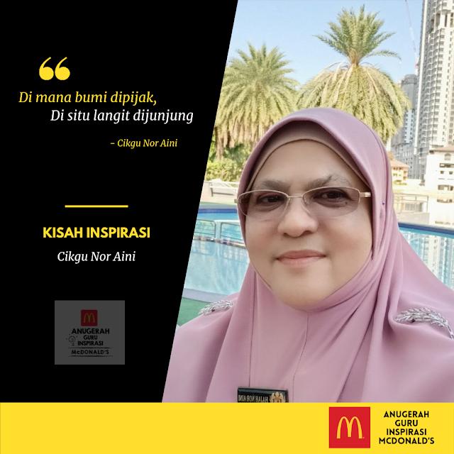 Kisah Inspirasi Cikgu Hajah Nor Aini binti Ahmad Guru Yang Kreatif dan Inovatif Berjaya Memberi Nafas Baru Kepada Imej Sekolah