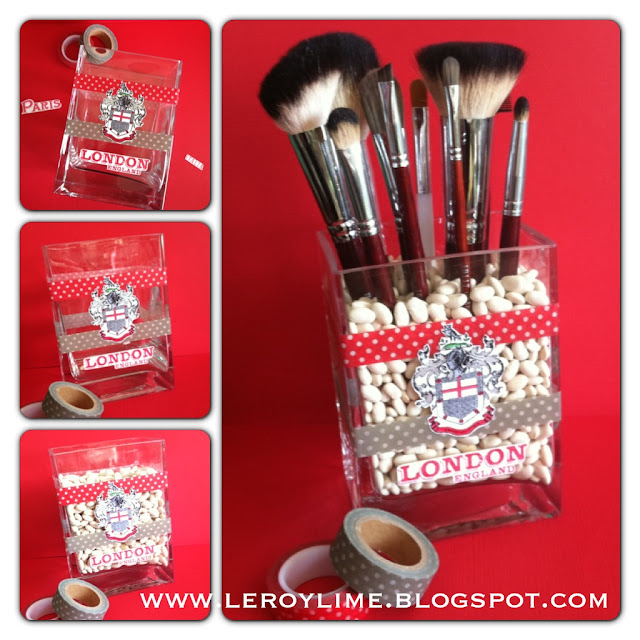 Washi Tape Make-Up Brush Holder - LeroyLime