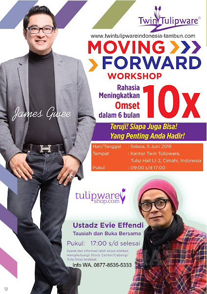 Moving Forward Tulipware Juni 2018, James Gwee, Ustadz Evie Effendi