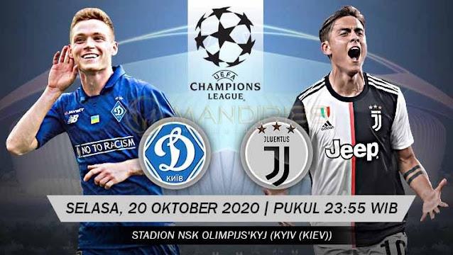 Prediksi Dynamo Kiev Vs Juventus, Selasa 20 Oktober 2020 Pukul 23.55 WIB @ SCTV