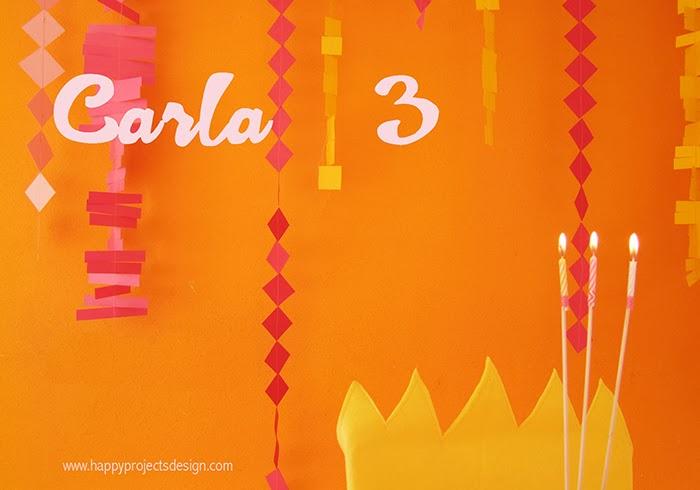 Decoración fiesta cumpleaños: guirnaldas y trono