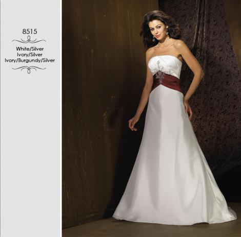 Wedding Dresses With Red And Black Accents Dress S