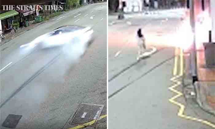 Tanjong Pagar crash: Video shows girlfriend of driver running to burning car, Singapore, News, Accidental Death, Injured, Car accident, Video, World