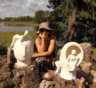 Clay sculptures by Elisaveta Sivas