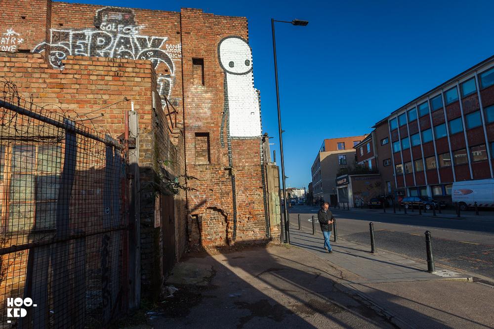Street Artist Stik's Latest Mural in Hackney, London