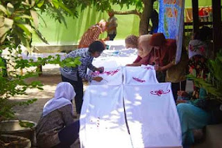 pelatihan batik disperindagkop Kalimantan