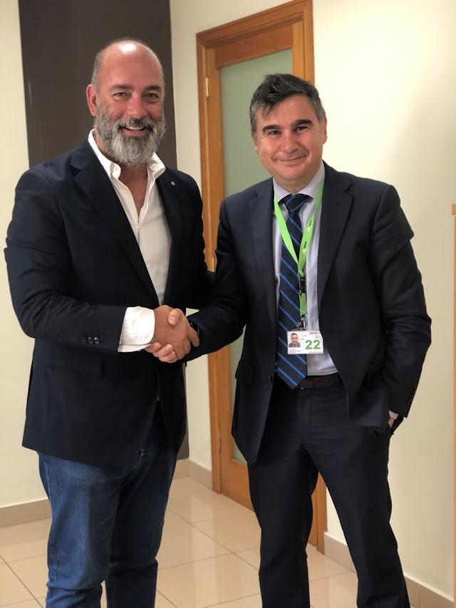 Nuevo Director Aeropuerto Fuerteventura Garcia Aparicio visita oficinas Patronato Turismo