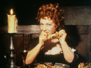 Joyce Redman in eating scene of Tom Jones movie