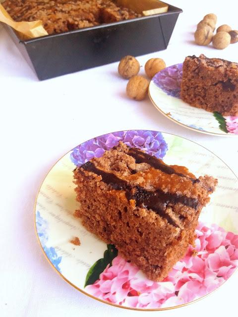 Proste ciasto czekoladowe z kruszonką / Easy Chocolate Crumble Cake
